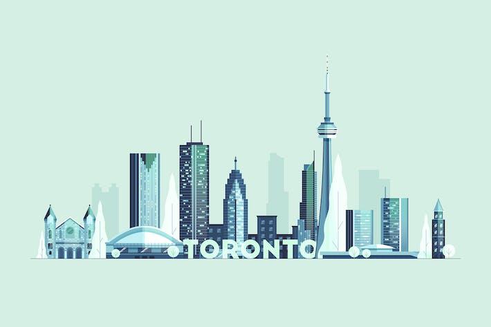 Cover Image For Toronto skyline, Canada