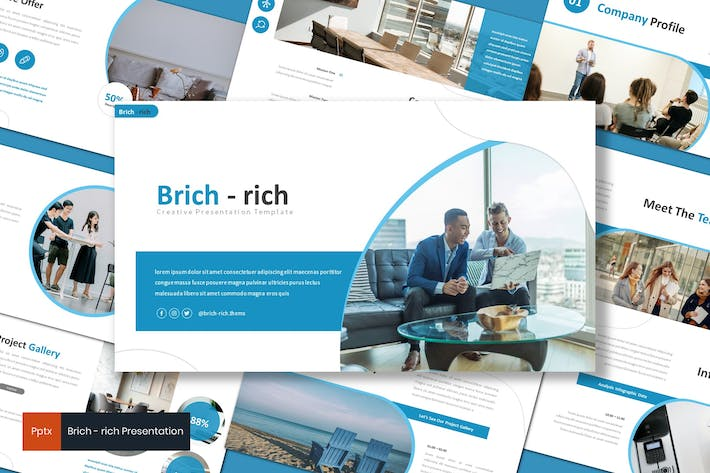 Thumbnail for Brichrich - Business Powerpoint Template