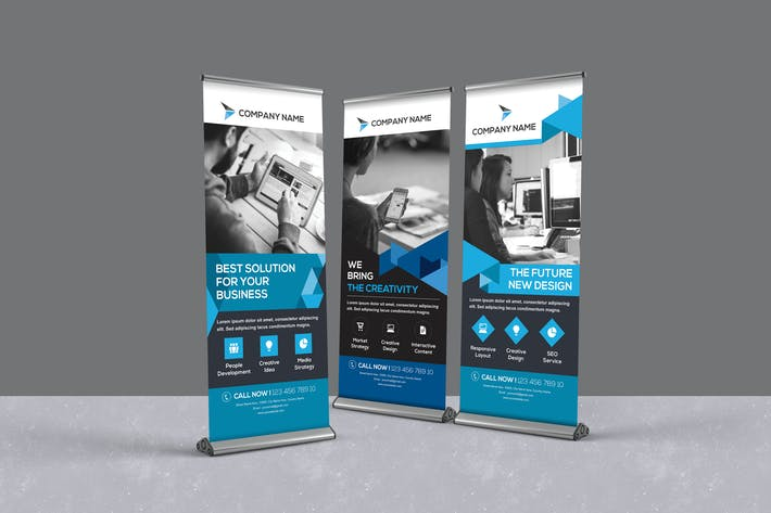 Thumbnail for Corporate Roll-up Banners
