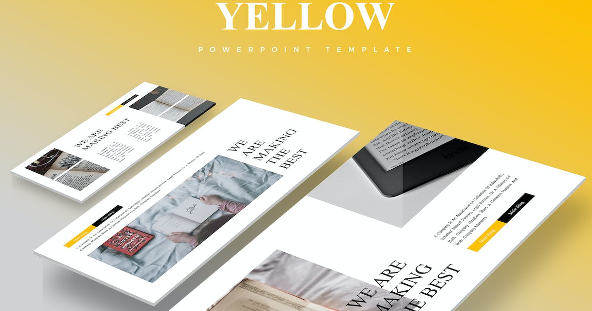 Download Yellow Best - Powerpoint Template by aqrstudio