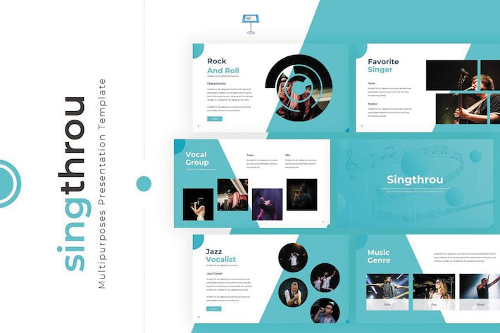 Thumbnail for Singthrou - Keynote Template