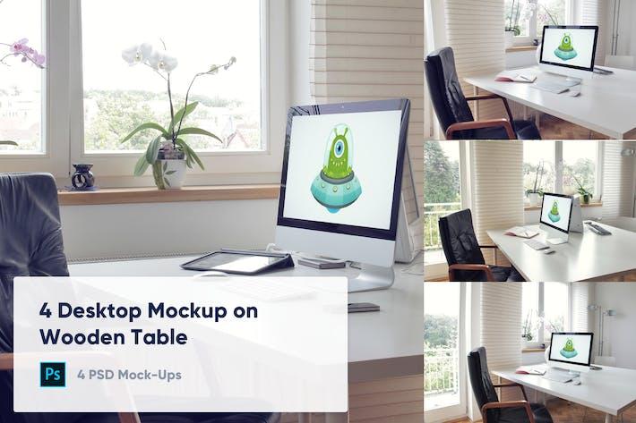 Thumbnail for Maquet de 4 postes de travail - Espace de travail Office