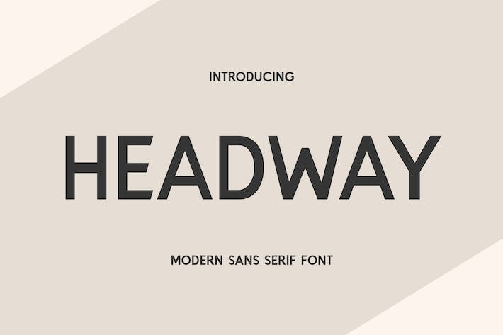 Thumbnail for Headway Display Sans Serif Font
