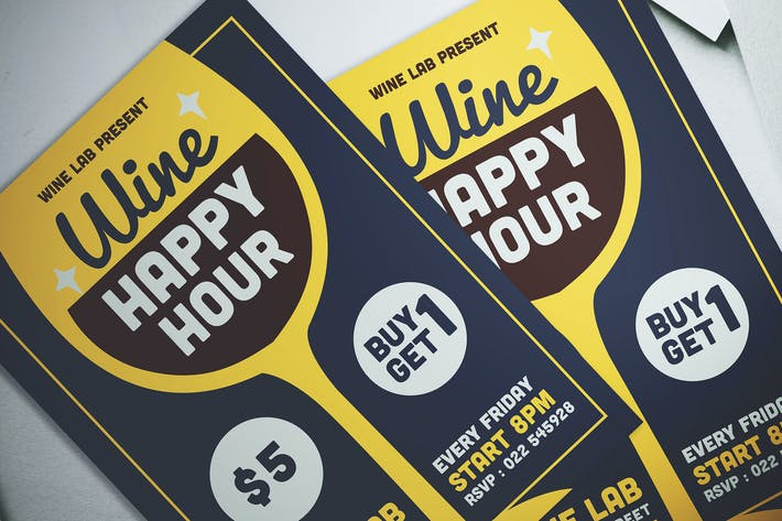 Thumbnail for Wine Happy Hour Flyer