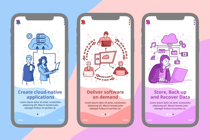 Thumbnail for Onboarding Screen For Cloud Computing Apps