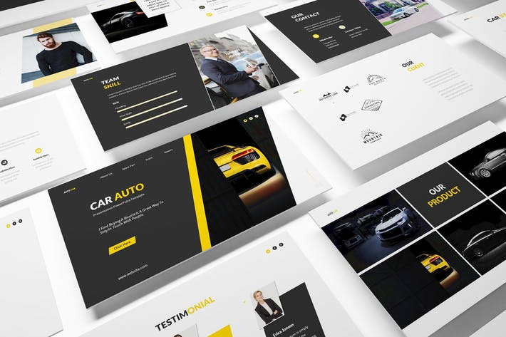 Thumbnail for Car Auto Powerpoint Template