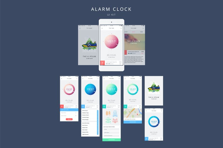 Thumbnail for Vector Alarm Clock for Your Phone in Flat Style