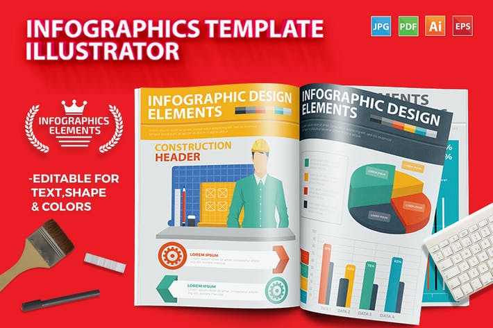 Thumbnail for Infographics Template Design 5