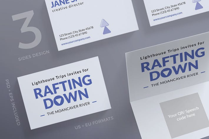 Thumbnail for Rafting Adventure Business Card Template