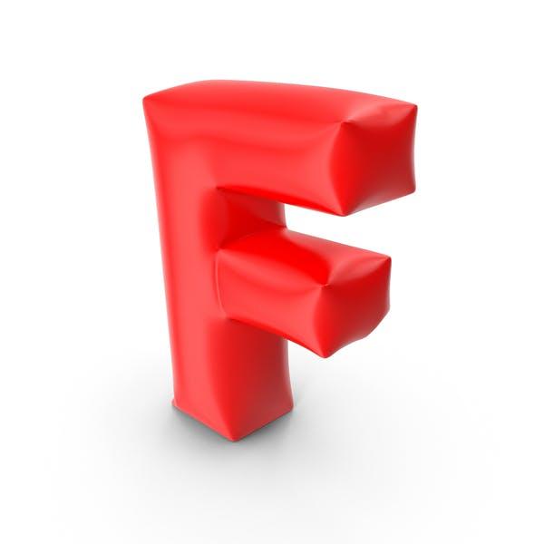 Ballonbuchstabe F