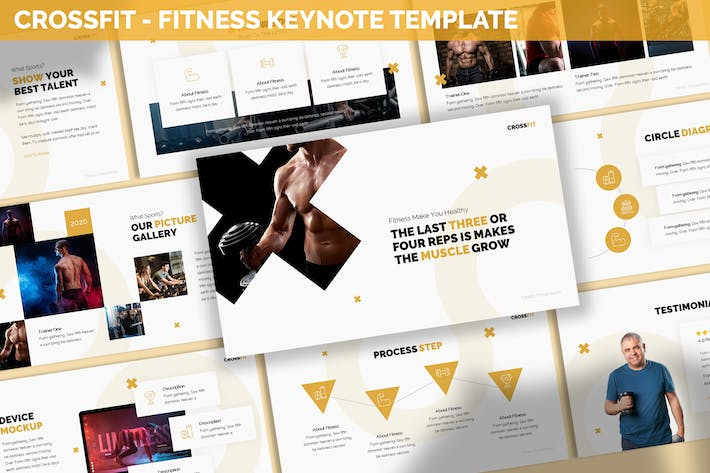 Thumbnail for Crossfit - Fitness Keynote Template