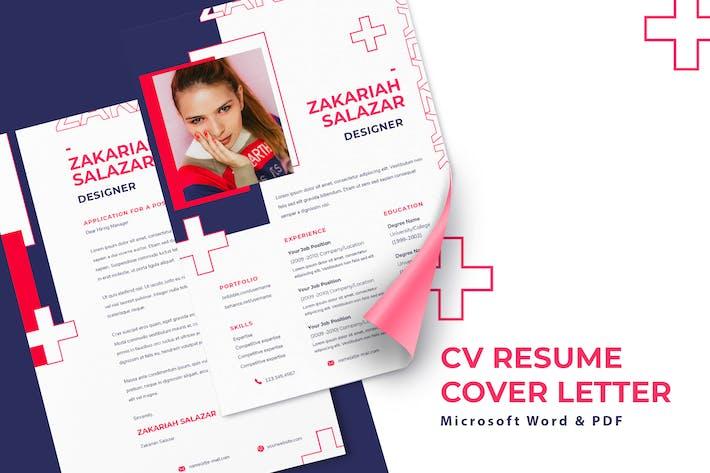 Thumbnail for Zakariah Salazar - CV Resume Template