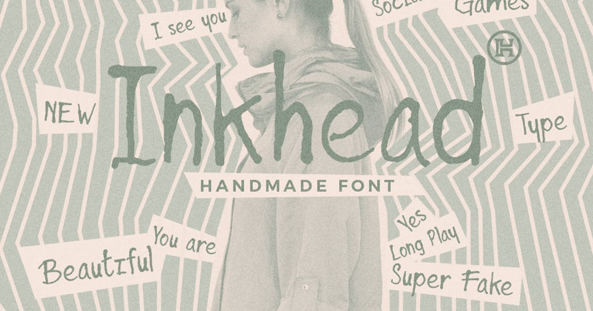 Download Inkhead Typeface Pen Stroke Handmade Font by Mihis_Design