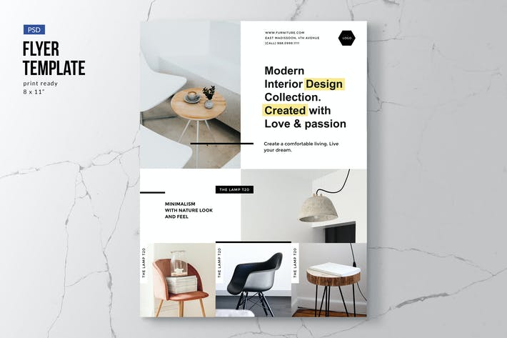 Thumbnail for Modern Furniture Flyer Template