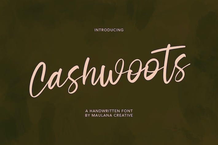 Cashwoots Tipo de letra manuscrita