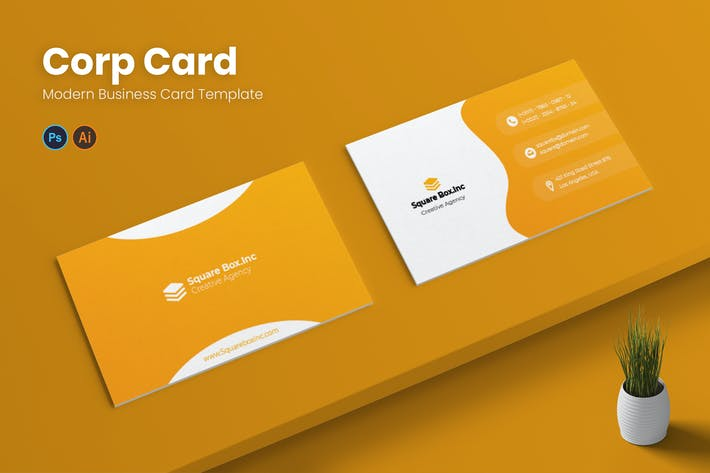 Corp Card Business Card