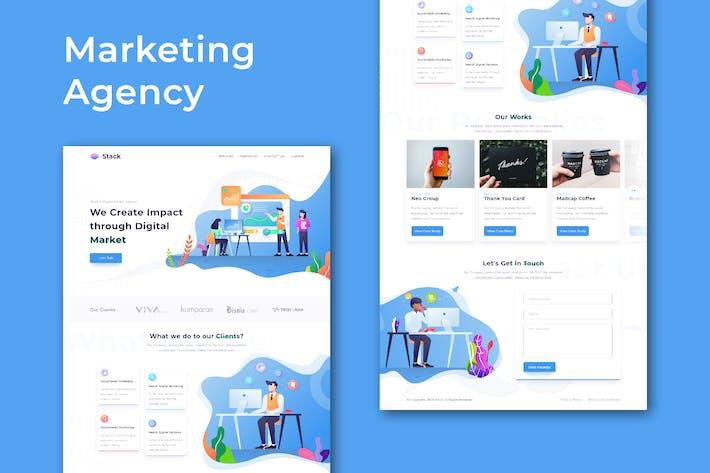 Thumbnail for Marketing Agency - Website