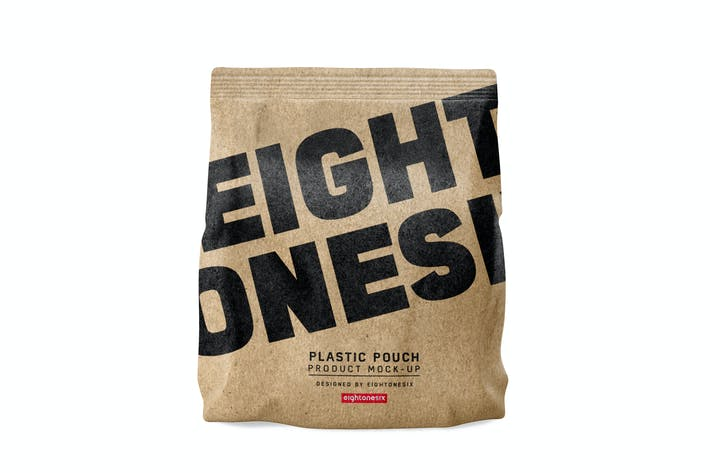 Thumbnail for Kraft Paper Bag Mock-Up Template