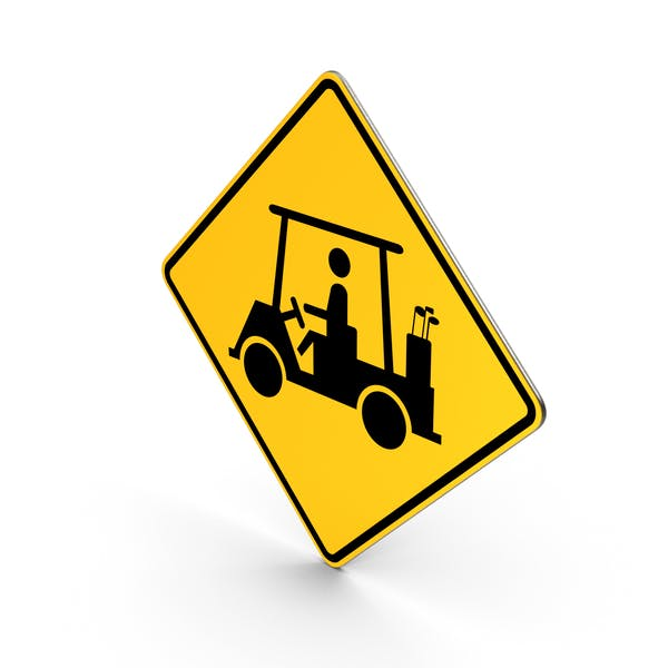 Golf Cart Crossing Road Sign