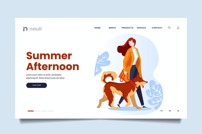 Thumbnail for Afternoon Walk Web Header PSD and AI Vector