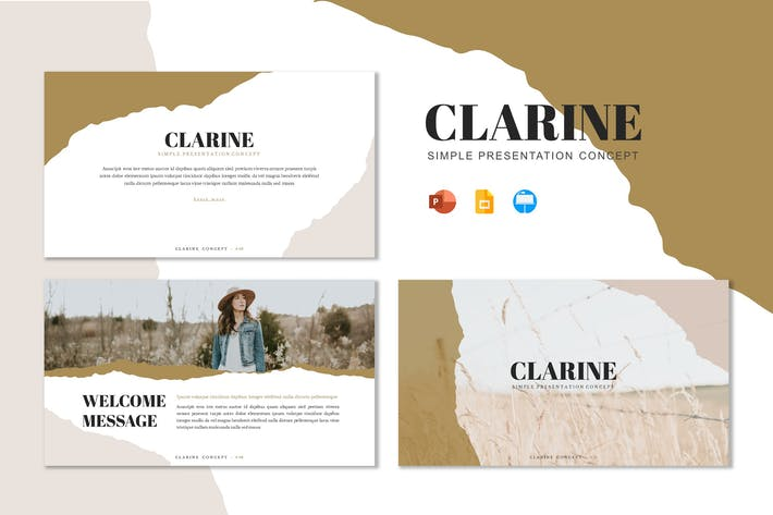 Thumbnail for Clarine - Шаблон презентации