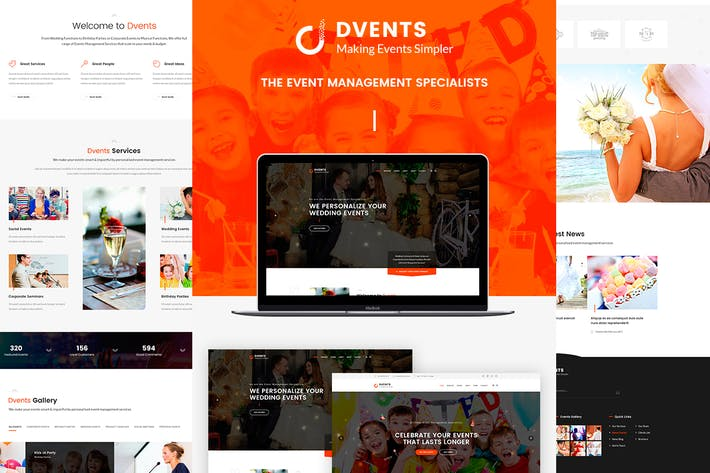 Thumbnail for DVENTS - Events PSD Template
