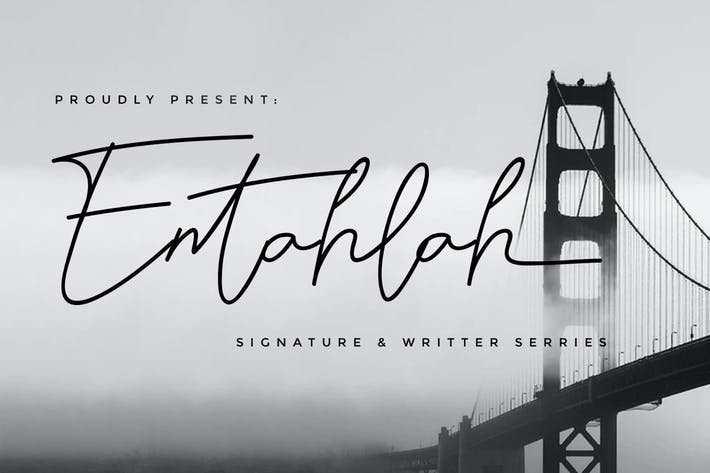 Thumbnail for Entahlah Signature Font - Rantautemp