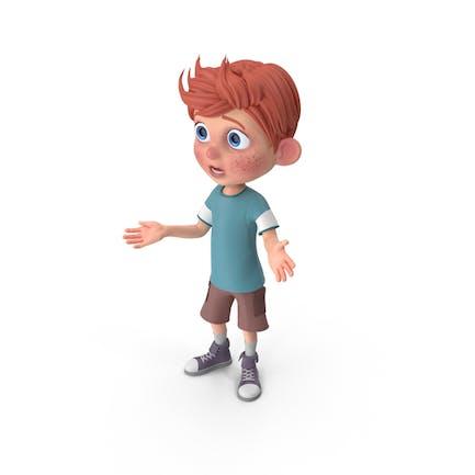Cartoon Junge Charlie Lost