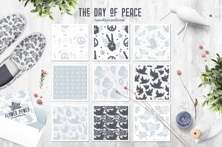 Thumbnail for The Day of Peace // Seamless Patterns