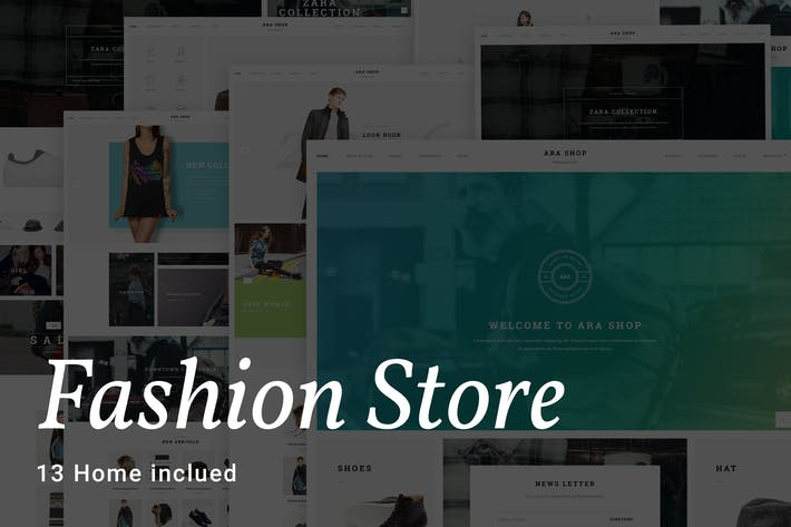 Thumbnail for Ara - Fashion Store Multipurpose PSD Template