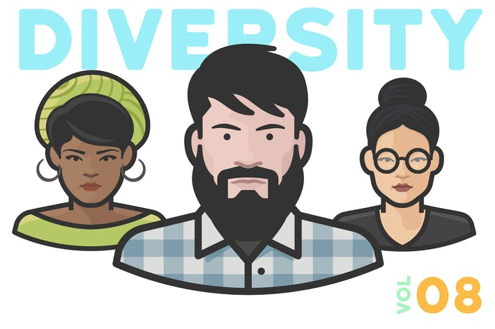 Thumbnail for Diversity Avatars v2 - Volume 08