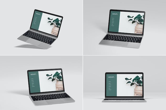 Macbook Air Laptop Mockup Vol 03
