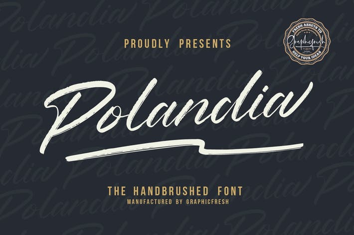 Polandia - The Handbrushed Font