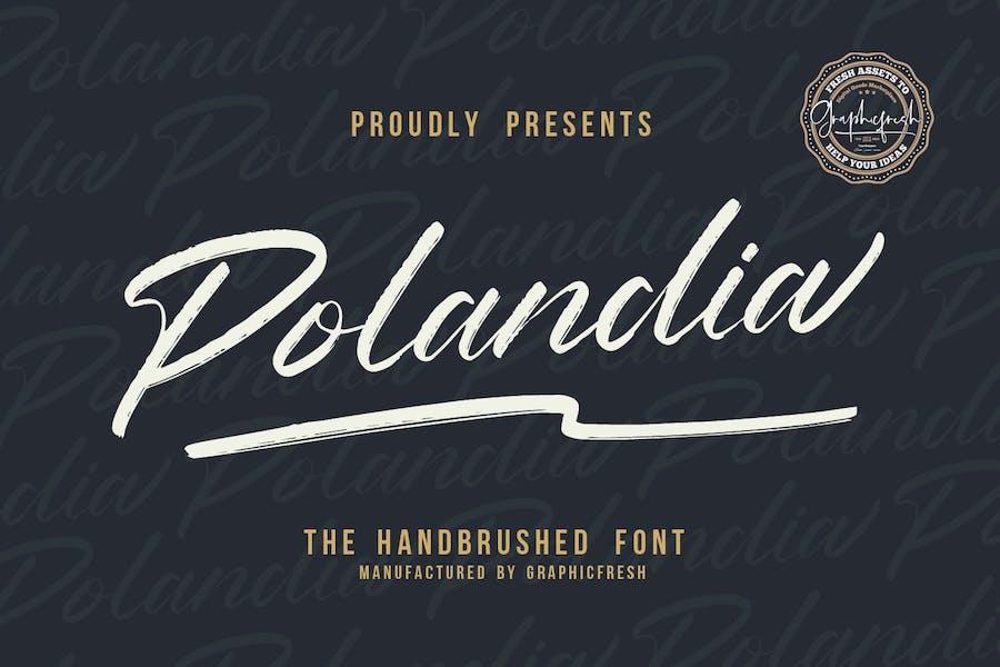 Polandia - The Handbrushed Font
