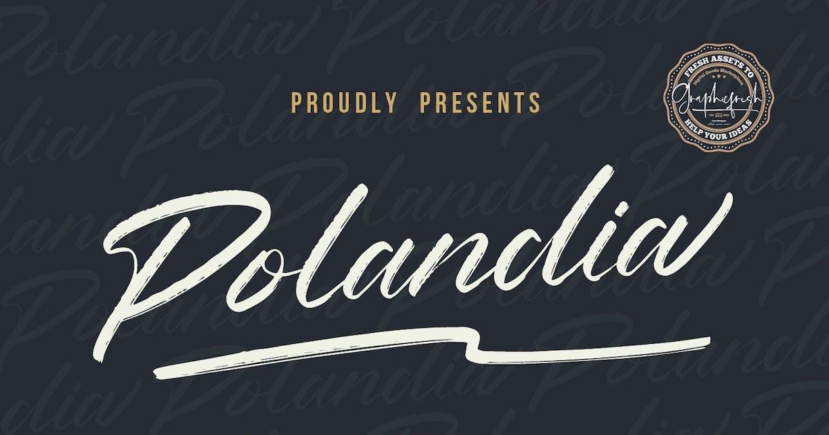 Download Polandia - The Handbrushed Font by sameehmedia