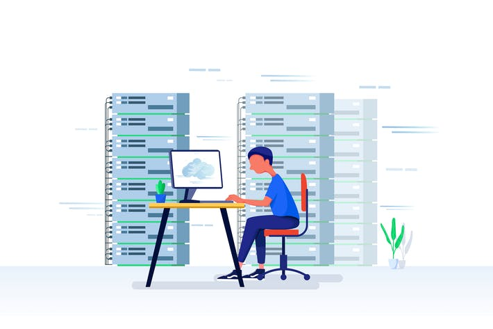 Thumbnail for Web hosting Vector Illustration