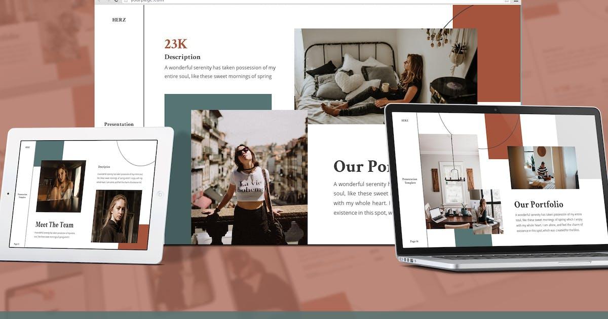 Download Herz - Lookbook Google Slides Template by SlideFactory