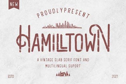 Hamilltown - Slab Serif Font