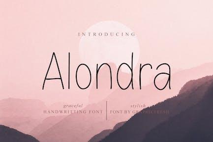 Alondra - The Handwritting Sans