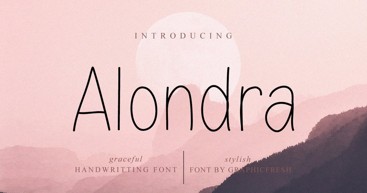 Download Alondra - The Handwritting Sans by Graphicfresh