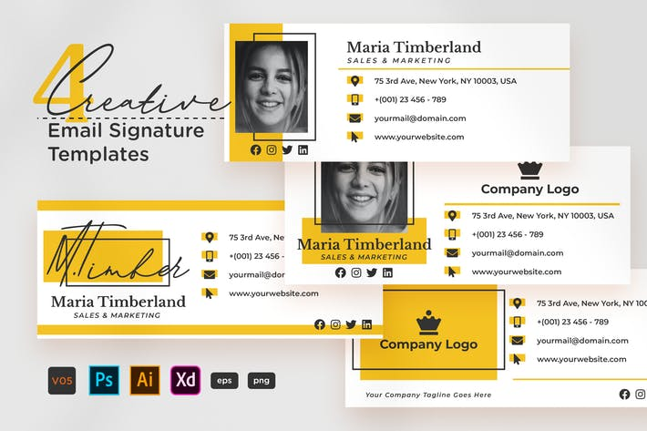 Thumbnail for Creative Email Signature V05