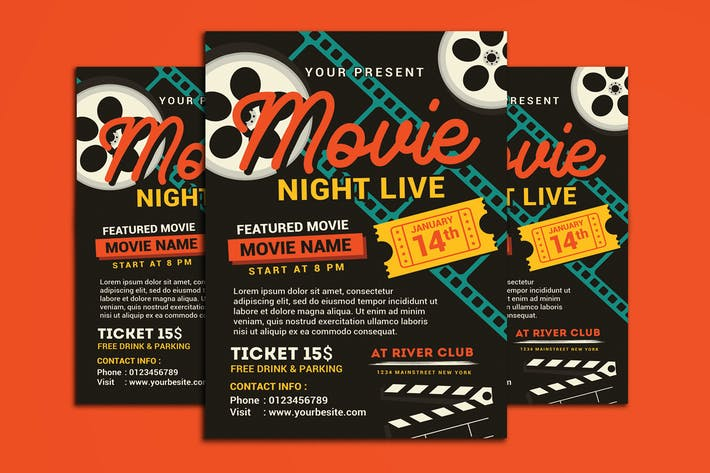 Thumbnail for Movie Night/Movie Time Flyer