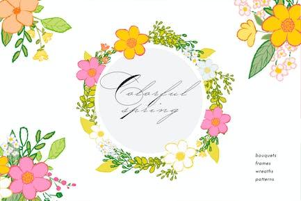 Wildblumen - bunte Sammlung