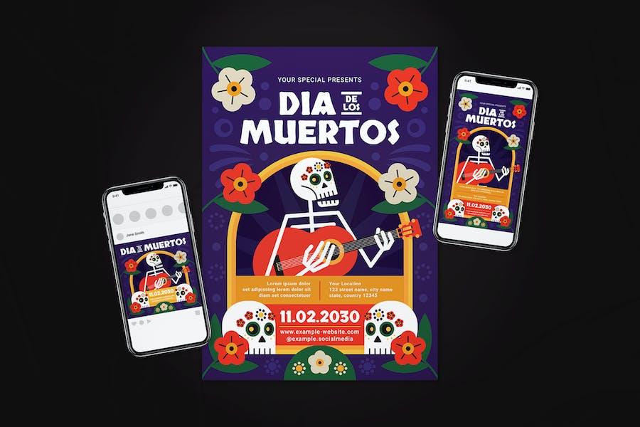 Dia De Los Muertos Flyer Set