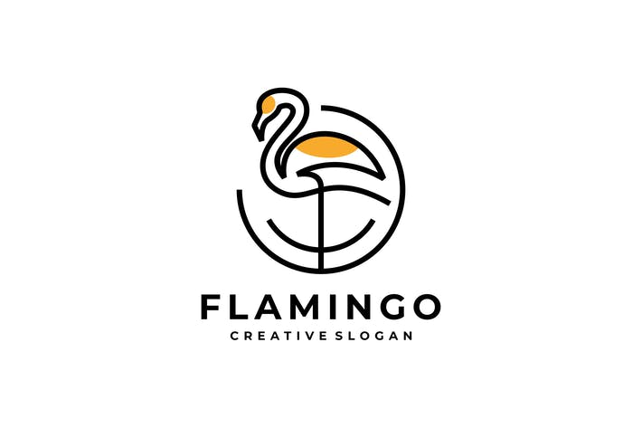 Thumbnail for Flamingo Simple Logo Design