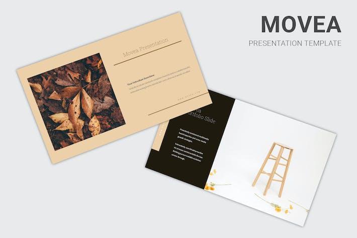 Movea - коричневая цветовая Тема Google слайды