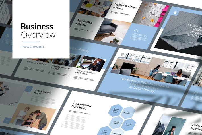 Thumbnail for Business Overview - Powerpoint Template