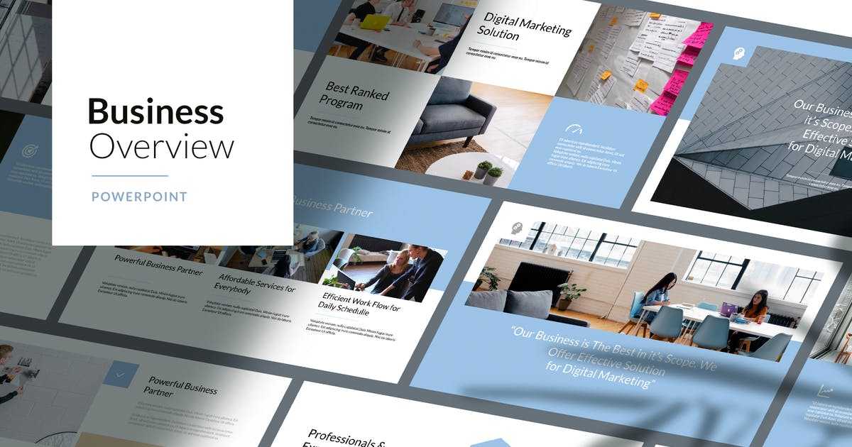 Download Business Overview - Powerpoint Template by Slidehack