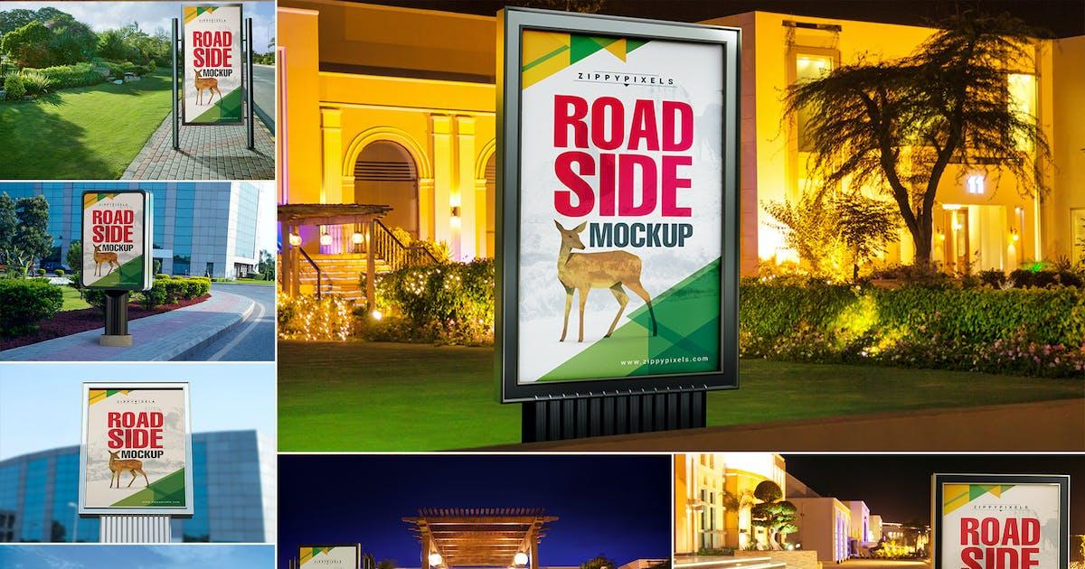 Download Roadside Billboard Mockups by zippypixels