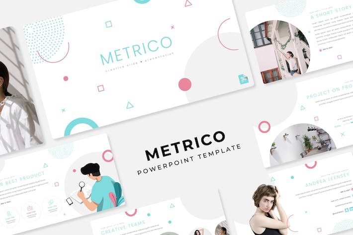 Cover Image For Metrico - PowerPoint Template